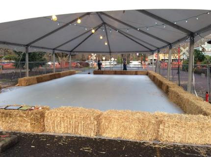 finished ice rink
