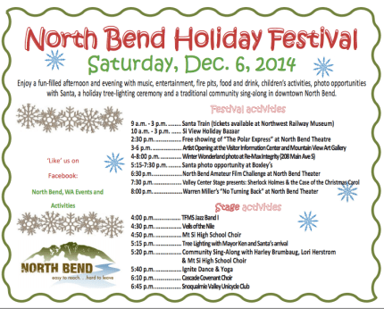 north bend holiday