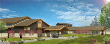 Sketch of new SVSD elementary school, currently under construction in Snoqualmie.
