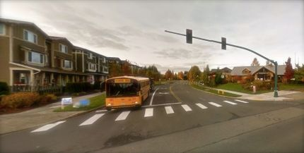 Intersection of Snoqualmie Parkway and Douglas Ave and 4-lane crosswalk