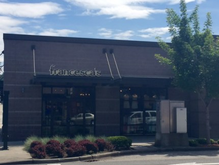 Francesca's, located at 1568 Highlands Drive N in the Issaquah Highlands.