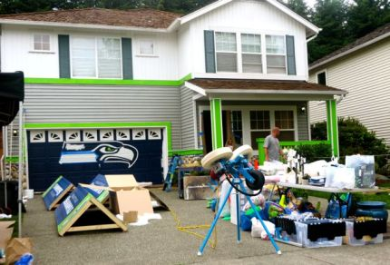 Sunday work on Snoqualmie Ridge home featured in upcoming WA State Lottery Commercial, 6/28/15