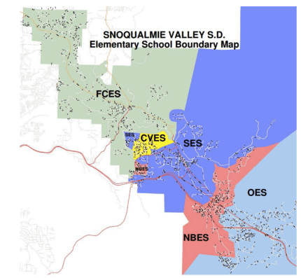 Current SVSD Elementary School Attendance Boundary Map