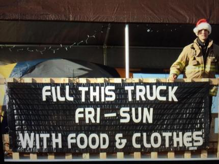 2014 EF&R 'Fill the Truck' Food and Clothing Drive. Photo: EF&R Facebook page