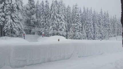 Conditions at Snoqualmie Pass on Monday, 12/21/15. Photo: LaBissoniere