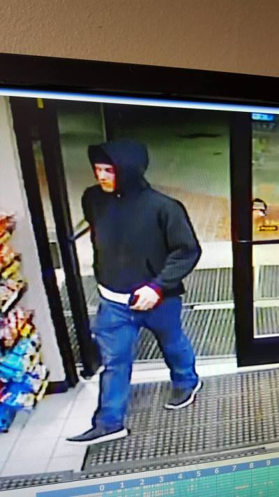 Scott's Dairy Freeze break-in suspect, 2/9/2016.  Surveillance photo released by SPD.