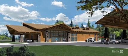 Conceptual Design for New Gas Station, Convenience store near Snoqualmie Casino.