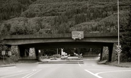 I-90/SR 202 Roundabout in North Bend at exit 31.