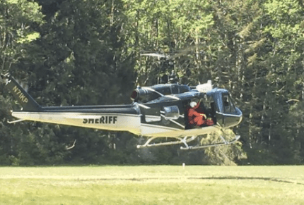 Photo: King County Sheriff's Office Guardian helicopter during training on May 12th. Photo: KCSO Air Support Twitter feed
