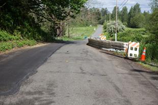 SE David Powell Road project site. Photo: KC Road Services Division.