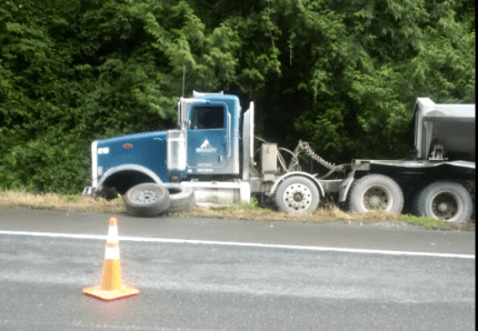 Semi involved in SR 18 accident on 9/8/16. Photo: WSP
