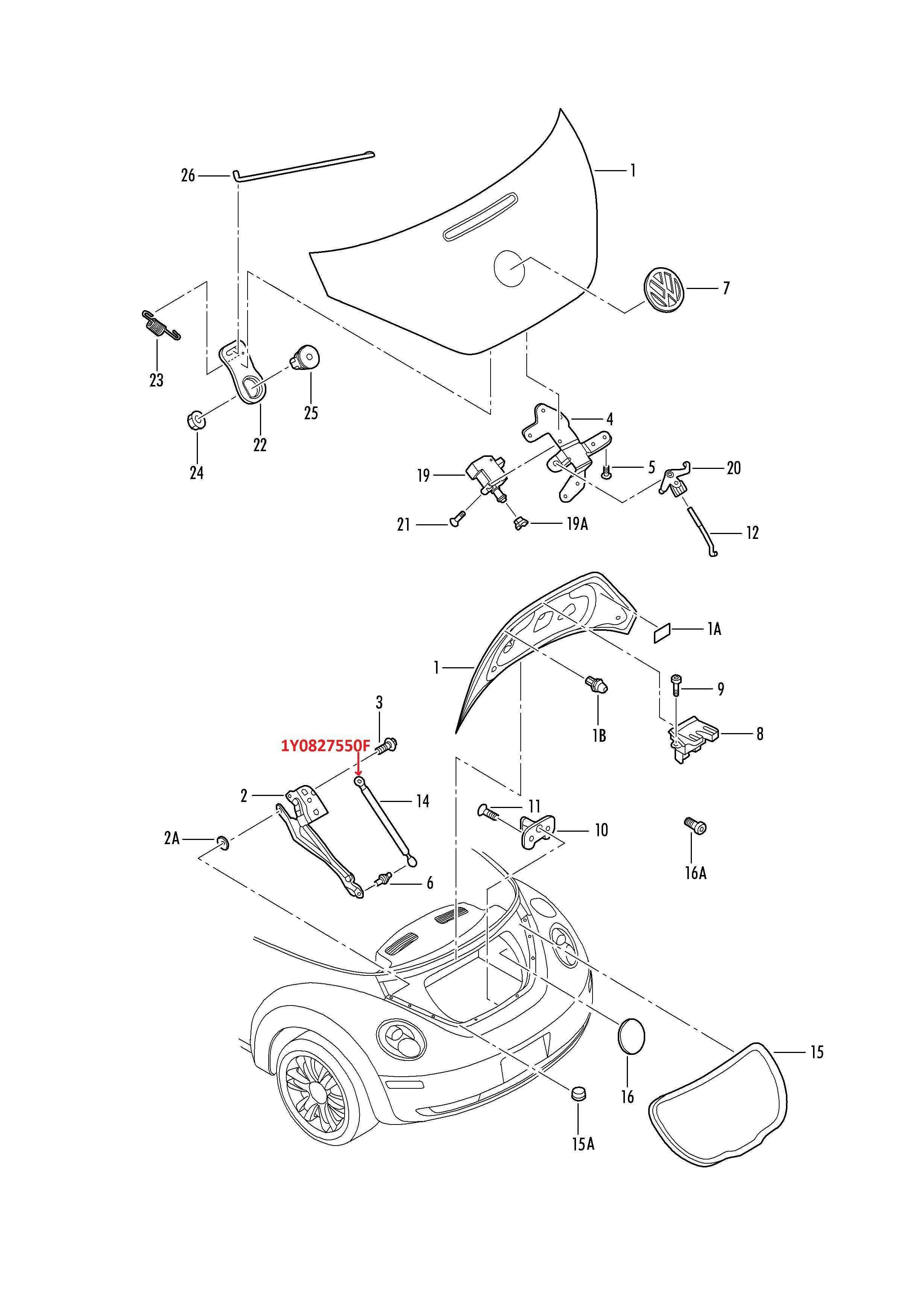 Amortiguador De Cajuela Lh Rh Para Beetle Cabrio