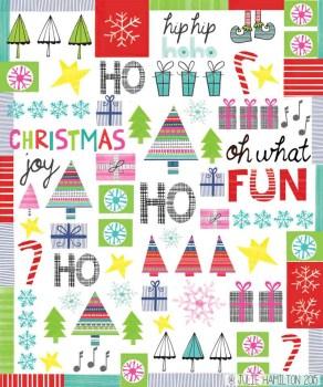 Christmas Doodle - Julie Hamilton Creative {artistically afflicted blog}