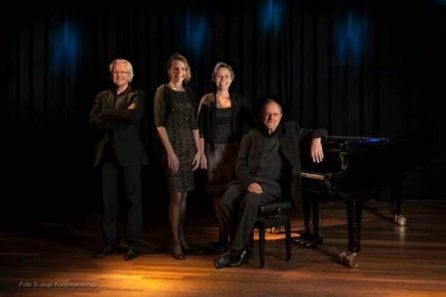 Emile Engel, Cathelijne Maat, Esther Scheerder, Rien Wulffraat (foto Joop Koopmanschap)