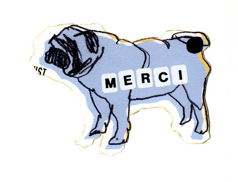 Hund Postkarte