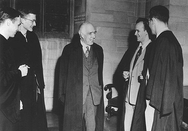 Everett com Niels Bohr em 1955