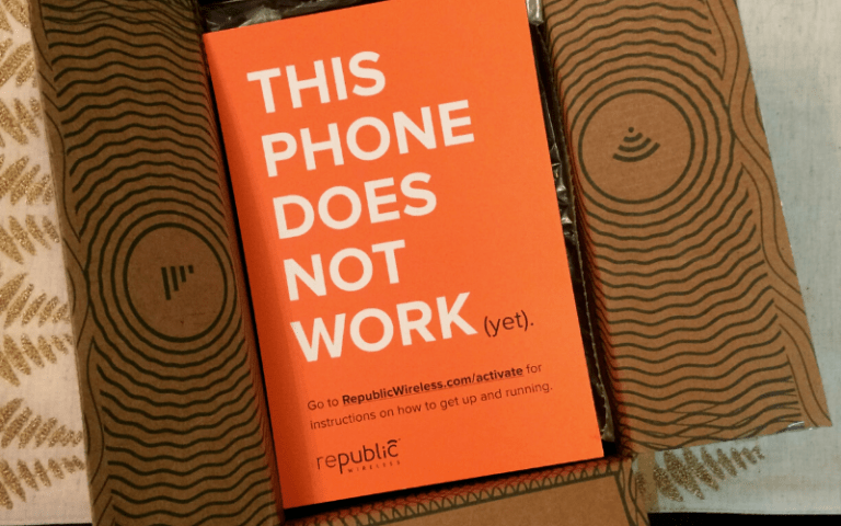 Orange card that says this phone does not work yet
