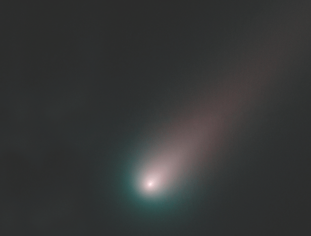 Comets are black before they near the Sun but when they approach it, they burst into bright colours just like comet ISON