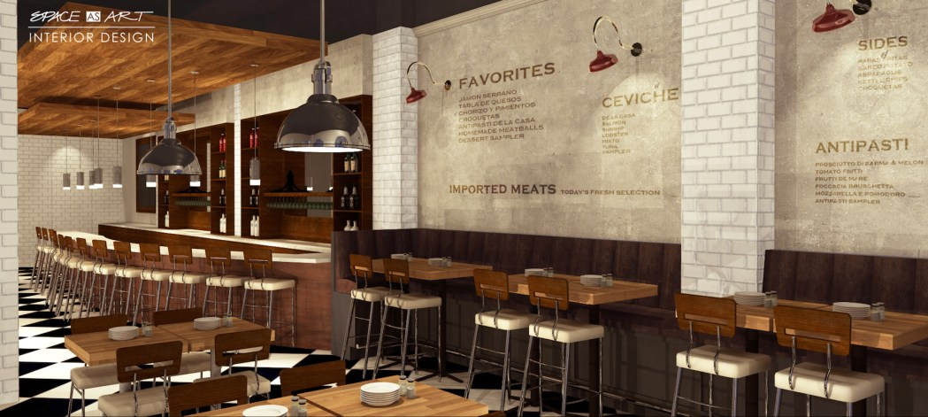 Creative restaurant and bar design by Space as Art interior design Sarasota Tampa