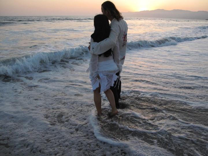 Osmunda & Darby at the beach