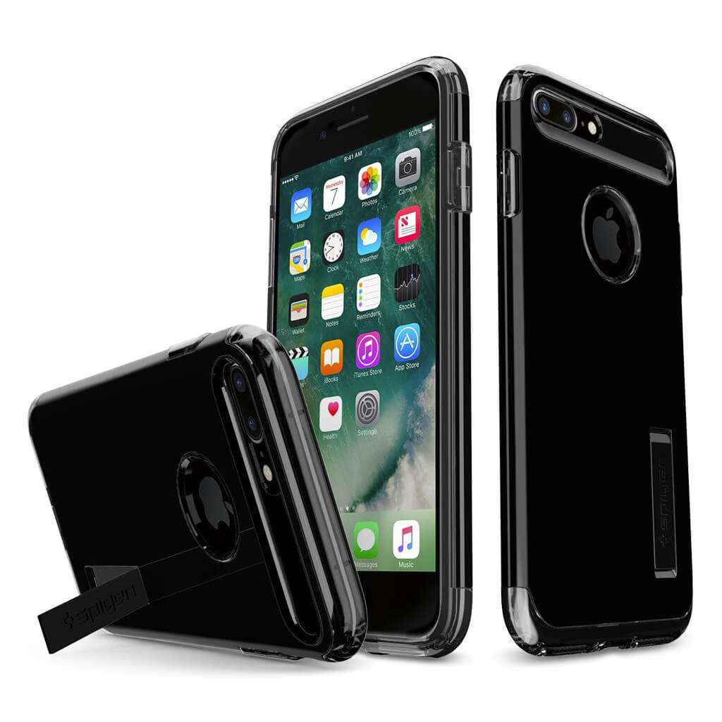 Color variants in black, gold, jet black, rose gold, and silver. Spigen® Slim Armor™ 043CS20851 iPhone 8 Plus / 7 Plus Case - Jet Black   Spaceboy*