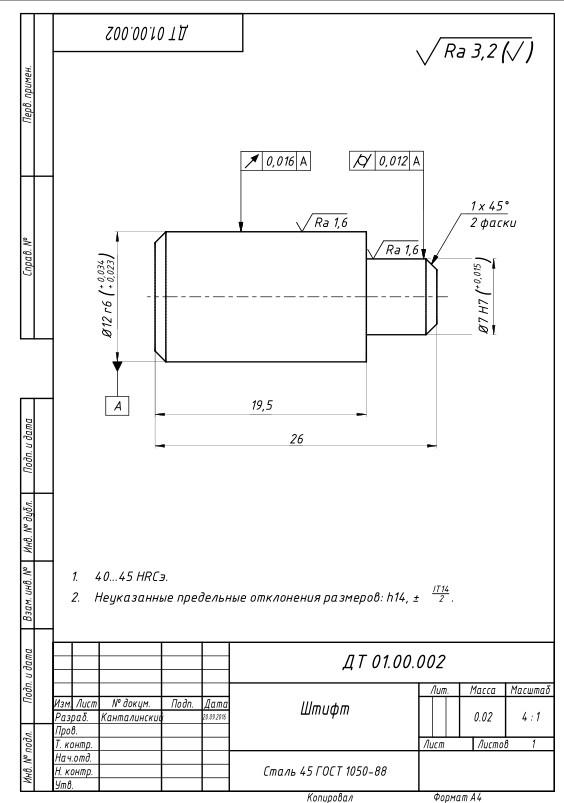 Штифт для шаблона для регулировки фаз ГРМ BMW
