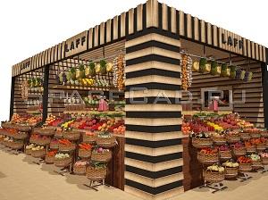 Визуализация торгового павильона