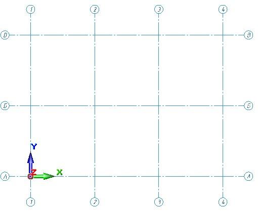 Сетка осей в ПК Сапфир 3D