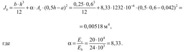 приведенный момент инерции сечения