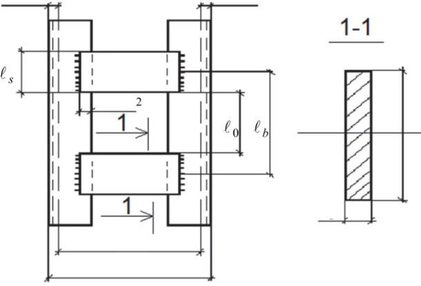 Схема расположения планок в колонне
