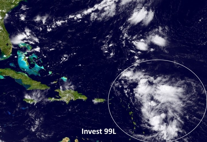 Satellite appearance of Invest 99L on Tuesday afternoon. (NOAA)