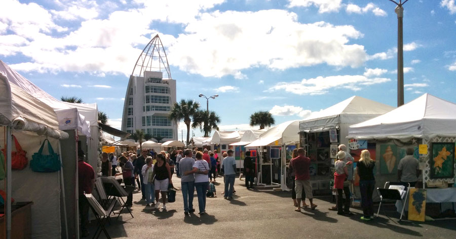2014 Space Coast Art Festival at the Port Canaveral Exploration Tower