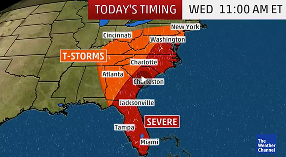 NWS TWC Forecast Severe Weather Potential Today For
