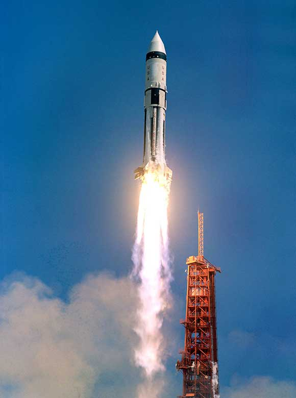 NASA HISTORY: Apollo AS-203 Launches From Kennedy Space ...
