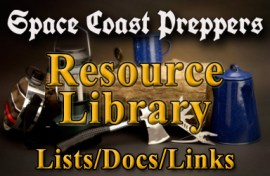 Space Coast Preppers Resource Library