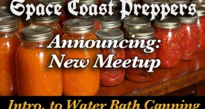 Space Coast Preppers New Meetup- Intro to Water Bath Canning