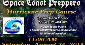 Space Coast Preppers Presents- Hurricane Preparation 101