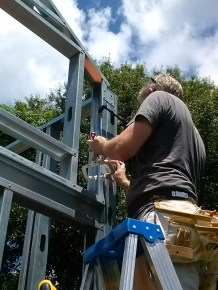 Steel plates are useful for attaching pieces when the screwgun won't fit into a small space.