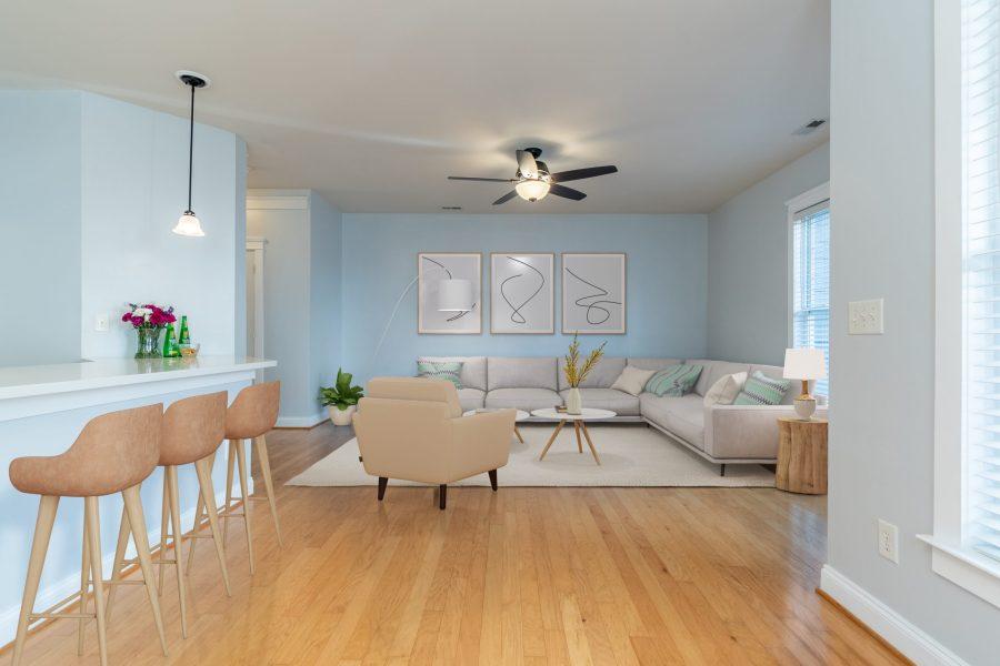 326 center dr living room virtual staging
