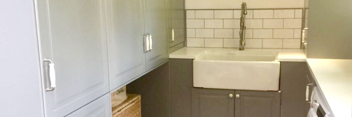 Completely New Laundry Room With Belfast Sink