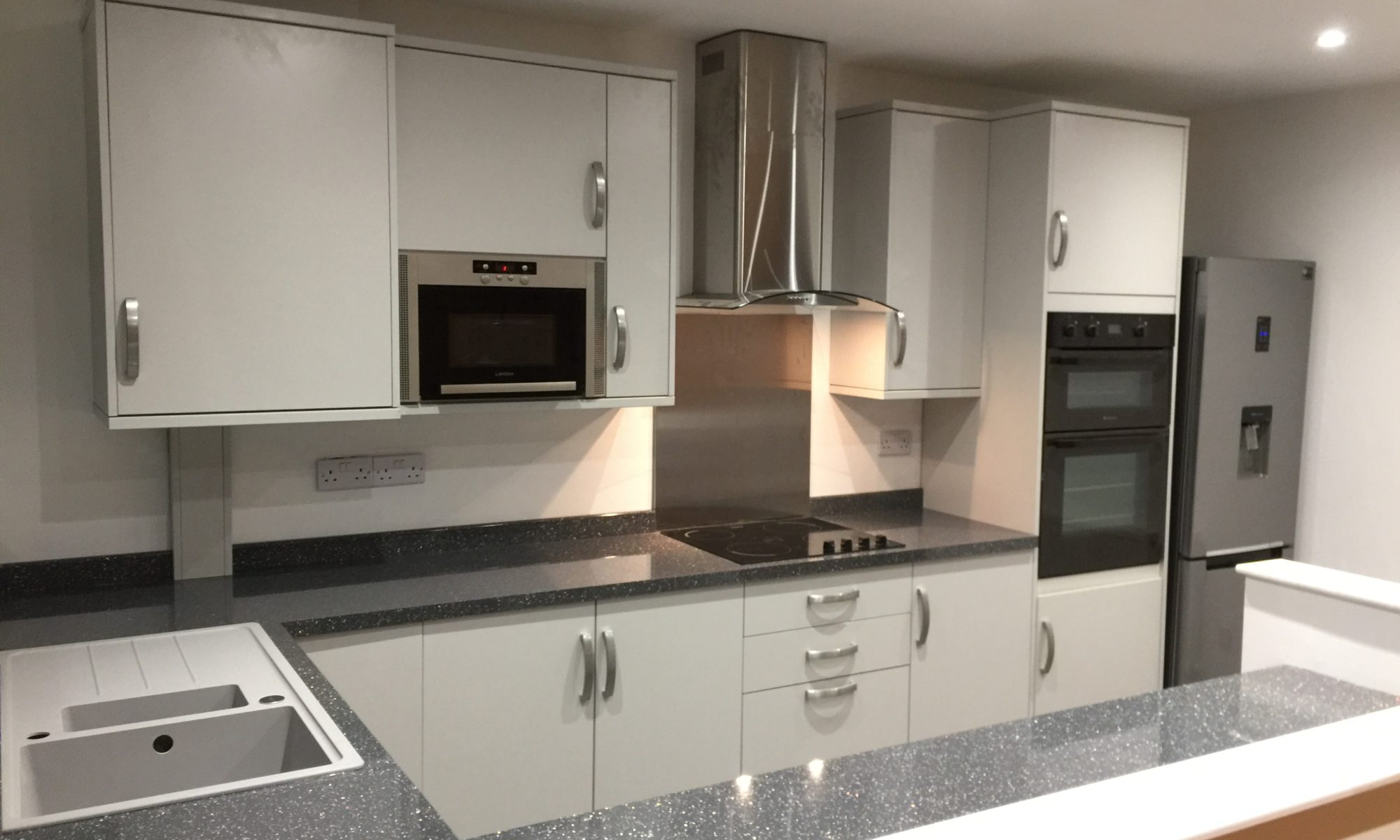 Complete kitchen renovation, floor boards, ceiling, walls and ceiling, new LED downlights and the boiler moved