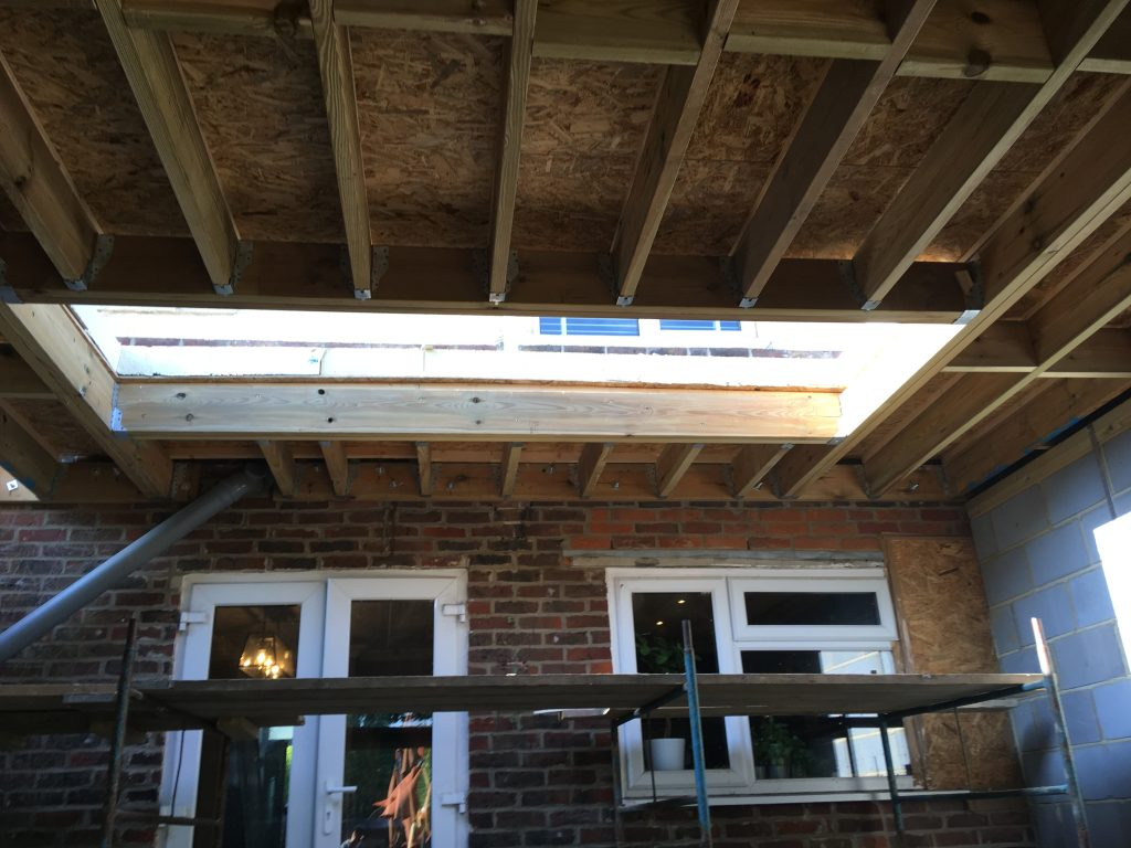 Extension roof