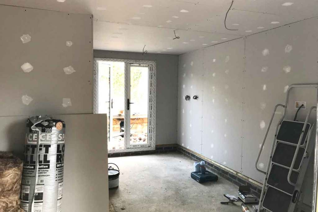 Interior Garden Room pre plaster