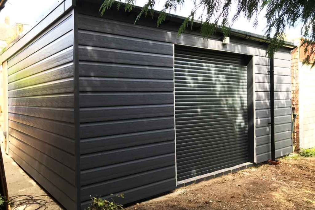 Rear Garden Room Garage Door