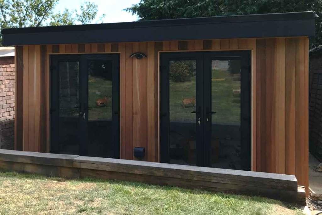 Front Patio Doors on Garden Room