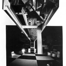 Inside the Space Electronic nightclub - this image inspired Ben Kelly's design for the Space Electronic: Then and Now installation.