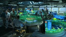 Salle de contrôle des terriens sur la planète Pandora