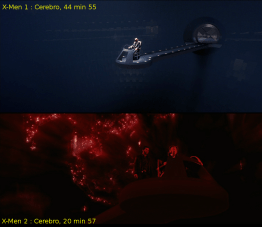 Cerebro, X-Men 1 et X-Men 2