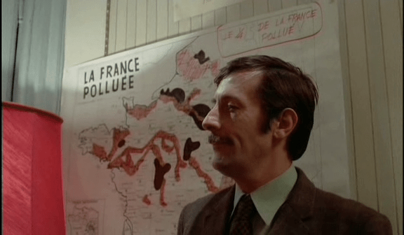 "La carte de ""La France polluée"". Horloger de Saint-Paul (B. Tavernier)"