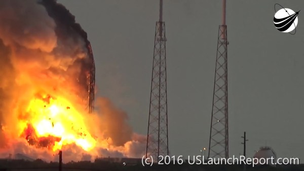 Dramatic Still Frames Falcon 9 explodes atop Cape